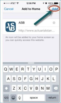 Add ASB to Home Screen